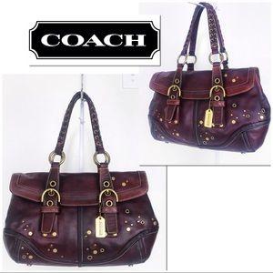 Coach Rare Ltd Ed Leather Soho Studded Satchel Bag